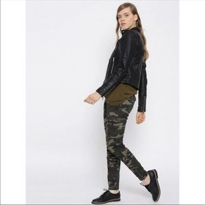 Forever 21 Camouflage Cargo Skinny Jeans